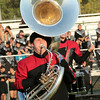 Ryan Bemillerplays the sousaphone for Northwood in Class C competition at Concord.