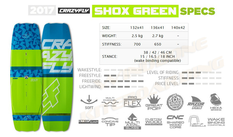 2017 Crazyfly Shox Green Specifications