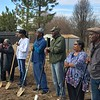 SEVEN YEARS OF WAITING—At long last, former residents of Pinhook Village broke ground Jan. 26 on seven new homes in Sikeston after a levee was blown by the Army Corps of Engineers in 2011 to alleviate disastrous flooding to a more populated area along the Mississippi. (<i>The Mirror</i>)