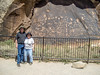 "Bob and Jeanette at ""Newspaper Rock"" at Needles (Canyonlands)"