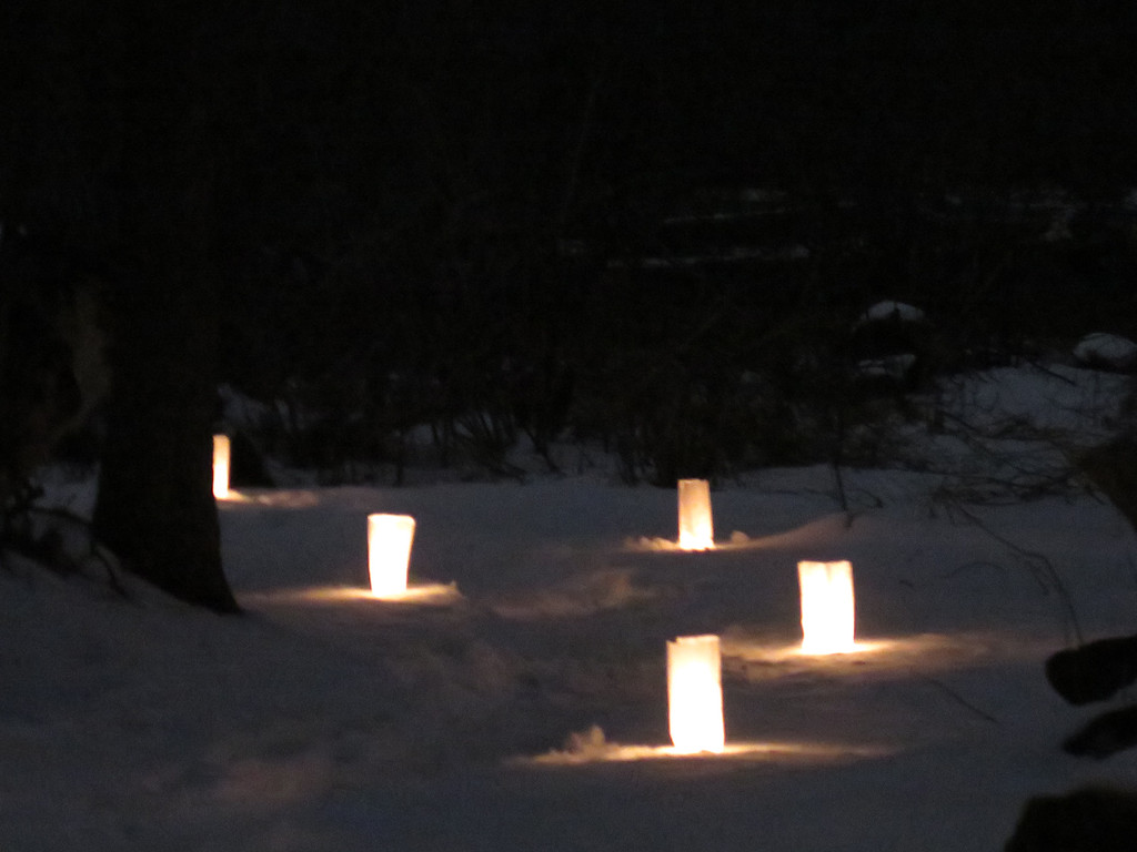 . Andrew Aurigema - Oneida Daily Dispatch The Oneida Recreation Department hold a candlelight snowshoeing event at Duross Conservancy in Oneida on Friday, March 24, 2017.