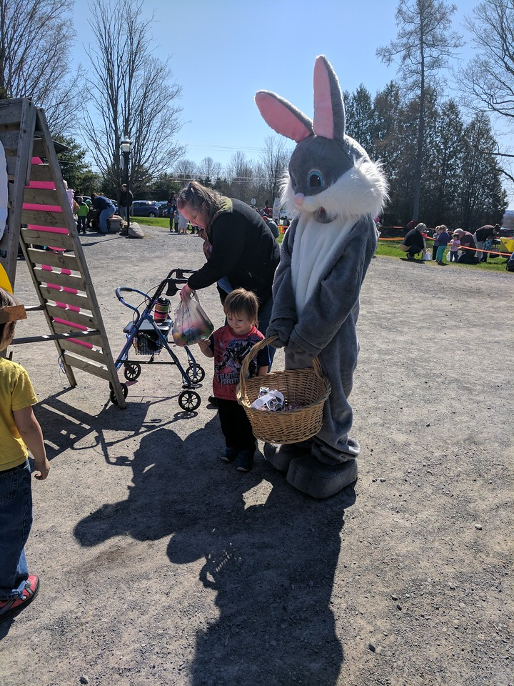 Leah McDonald - Oneida Daily Dispatch Children and families take part in the Great Swamp Conservancy's Easter egg hunt at the Great Swamp on Friday, April 14, 2017.