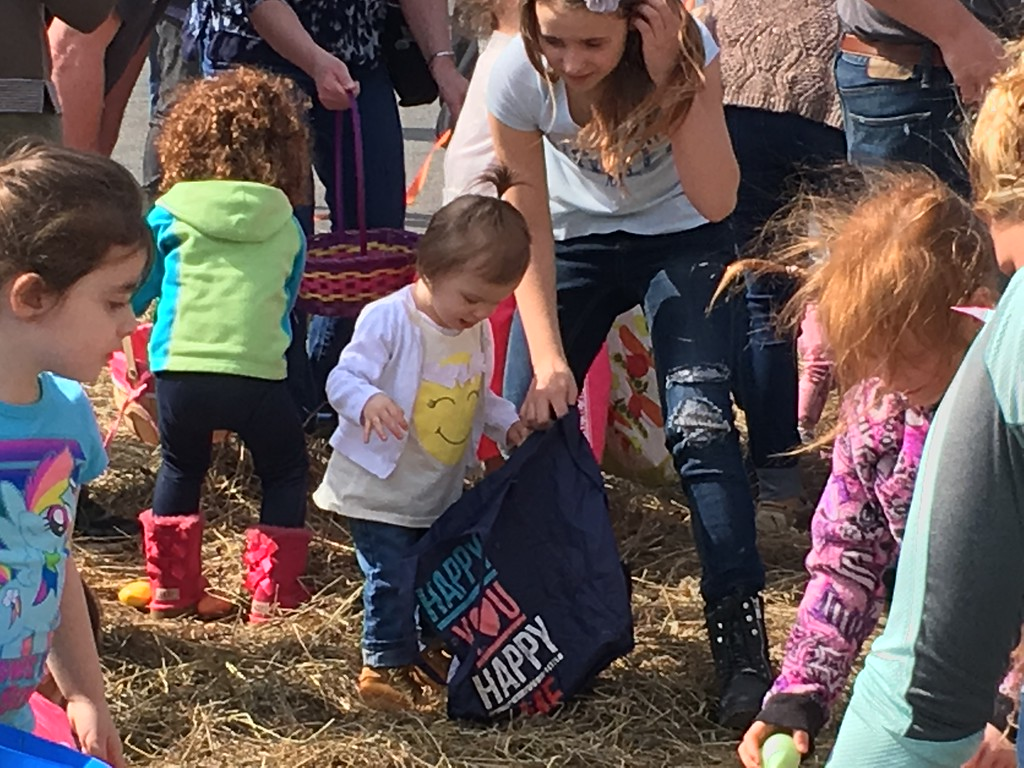 . John Brewer - Oneida Daily Dispatch With more than 2,000 eggs waiting hidden in the straw, youngsters and their families line up for the annual Easter egg hunt in Canastota.