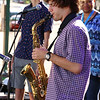 Brian Sapp | The Goshen News<br /> Joseph Furfuro, 16, Mishawaka, plays a solo with the Elkhart Jazz Festival All Stars.