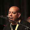 LYNNE ZEHR| THE GOSHEN NEWS<br /> Johnny Blas sings with his Afro-Libra Orquestra at the Elkhart Jazz Festival.