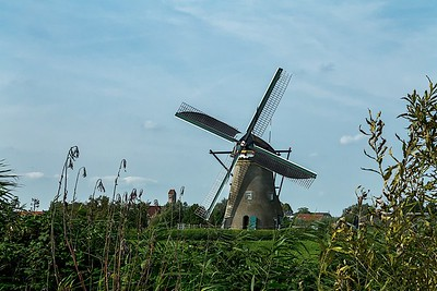 anno 1743 windmill wide shot. Its one of the oldest of the 17 windmills still in existence.