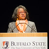 President Katherine Conway-Turner speaking at the President's Fall Forum at Buffalo State College.