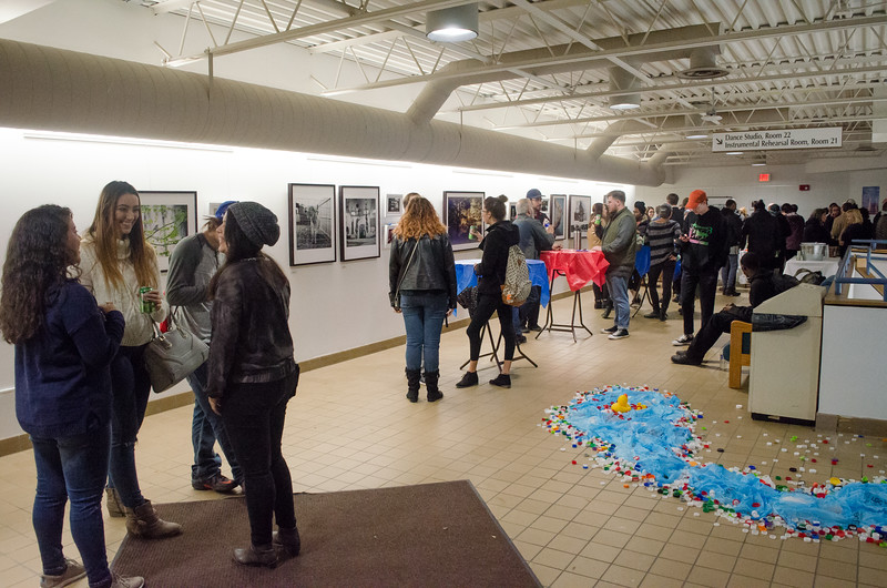 A exhibition of Buffalo State photography students capturing how consumerism, food consumption, and industrialization have affected local waterways.