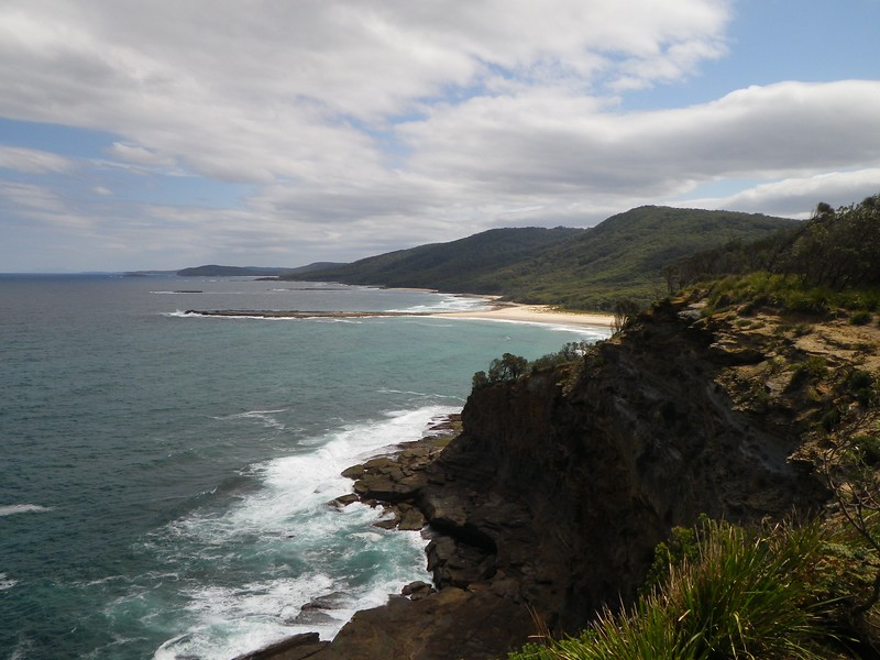 View of the coast from Control 51 including Durras Mountain