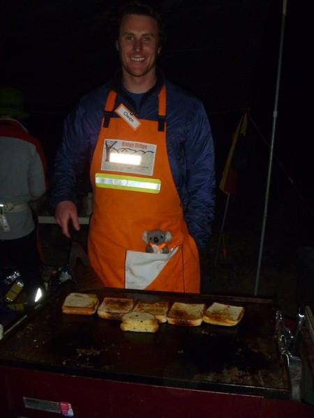 Owen making toasties