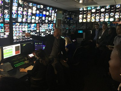 CNBC  Steve speaking to fellows in control room
