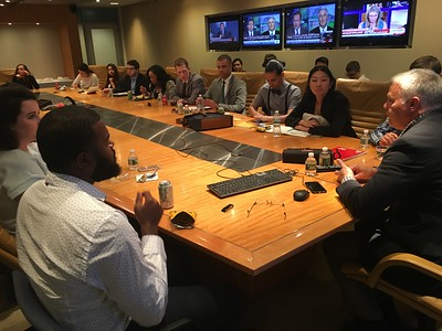 CNBC  Steve speaking with fellows in board room