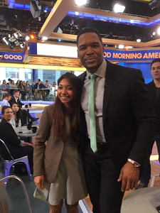 GMA  Sharmin Rahman with Strahan