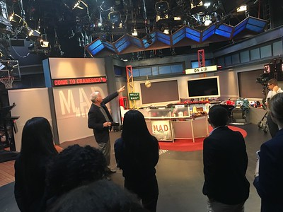 CNBC  Steve with fellows on Mad Money set