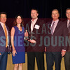 Fun Town RV, recieves the award for being the No. 9 Middle Market 50 company from (left to right) Steve Fox of Polsinelli; Melanie Shaffer from The CFO Suite; Jim LaFontaine of UMB Commercial Banking and Vance McCollough with Crowe Horwath.