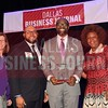 Emmanuel U. Obi, Esq., Managing partner, Obi Law Firm PLLC (center) receives his Minority Business leader Award, from Dr. Suzanne Carter and Matt Houston (from left) and Jarie Bradley (right) with sponsor TCU's Neeley School of Business Executive MBA program.