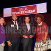 Kishore Khandavalli, CEO, SevenTablets, Inc., (center) receives his Minority Business leader Award, from Dr. Suzanne Carter and Matt Houston (from left) and Jarie Bradley (right) with sponsor TCU's Neeley School of Business Executive MBA program.