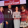 Liz Cedillo-Pereira, former senior adviser of U.S. Immigration and Customs Enforcement, U.S. Department of Homeland Security (center) receives her Minority Business leader Award, from Dr. Suzanne Carter and Matt Houston (from left) and Jarie Bradley (right) with sponsor TCU's Neeley School of Business Executive MBA program.