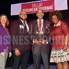 Roland Parrish, Parrish Restaurants, LTD. (center) receives his Minority Business leader's Lifetime Achievement Award, from Dr. Suzanne Carter and Matt Houston (from left) and Jarie Bradley (right) with sponsor TCU's Neeley School of Business Executive MBA program.