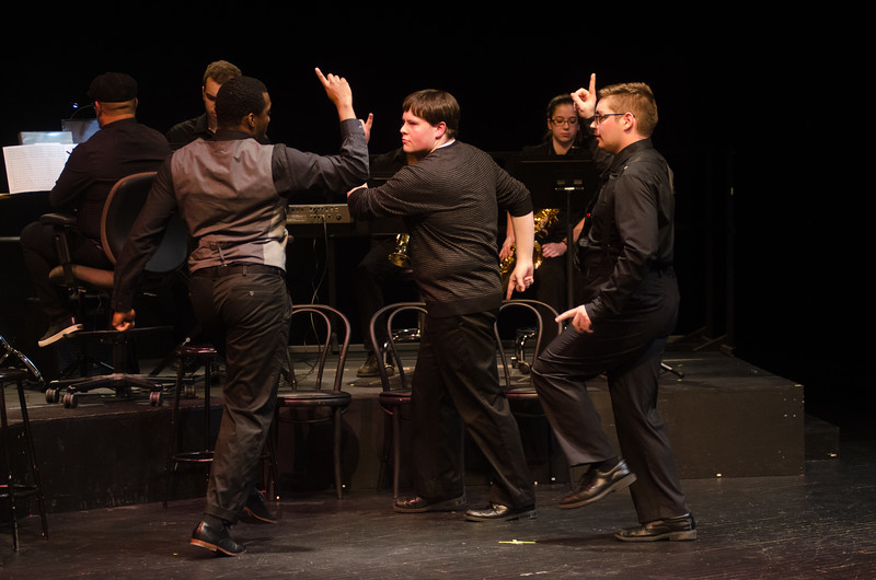 Buck, Boogie, Bop & Beyond a Musical about the African American influence on Broadway Musicals Created, Directed and Choreographed by Carlos Jones put on by Buffalo State College Catsting Hall Peoductions.