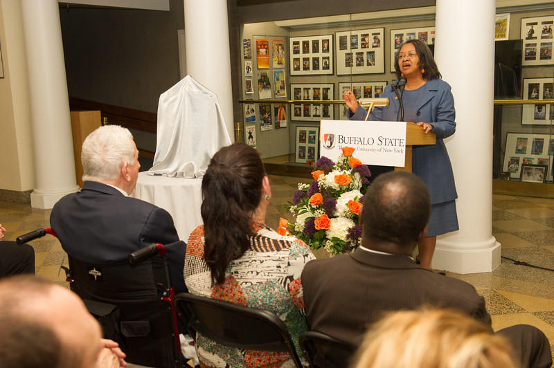 Patricia H. and Richard E. Garman Art Conservation Department renaming ceremony at Buffalo State College.