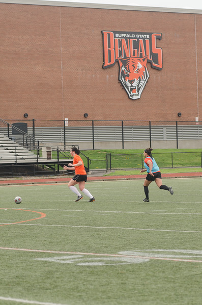Buffalo State women's alumni soccer game hled on  Coyer Field.