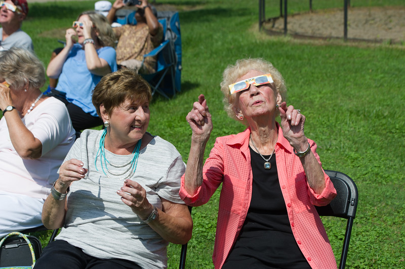 Solar eclipse celebration at Buffalo State College.