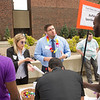 Career Development Center Part-time Job Fair Luau at Buffalo State College.