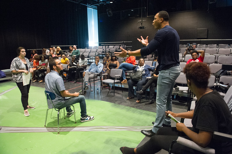 "Theater artist talk and master class with ""Empire"" actor Trai Byers at Buffalo State College."