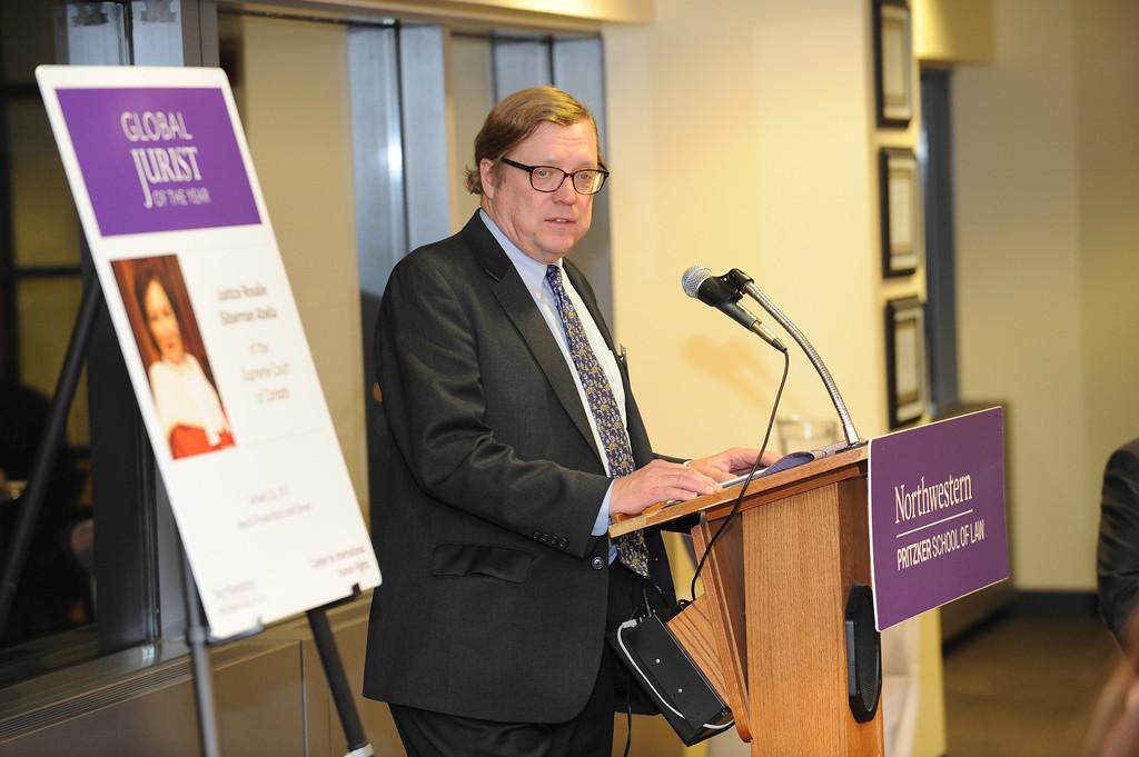 Center for International Human Rights Global Jurist Award presentation, January 25, 2017