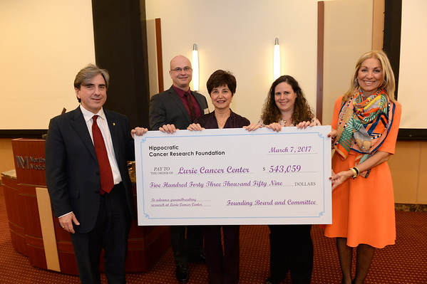 "HCRF ""The Wings to Cure"" Gala check presentation, March 7, 2017"