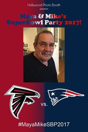 Mike and Maya Super Bowl Party