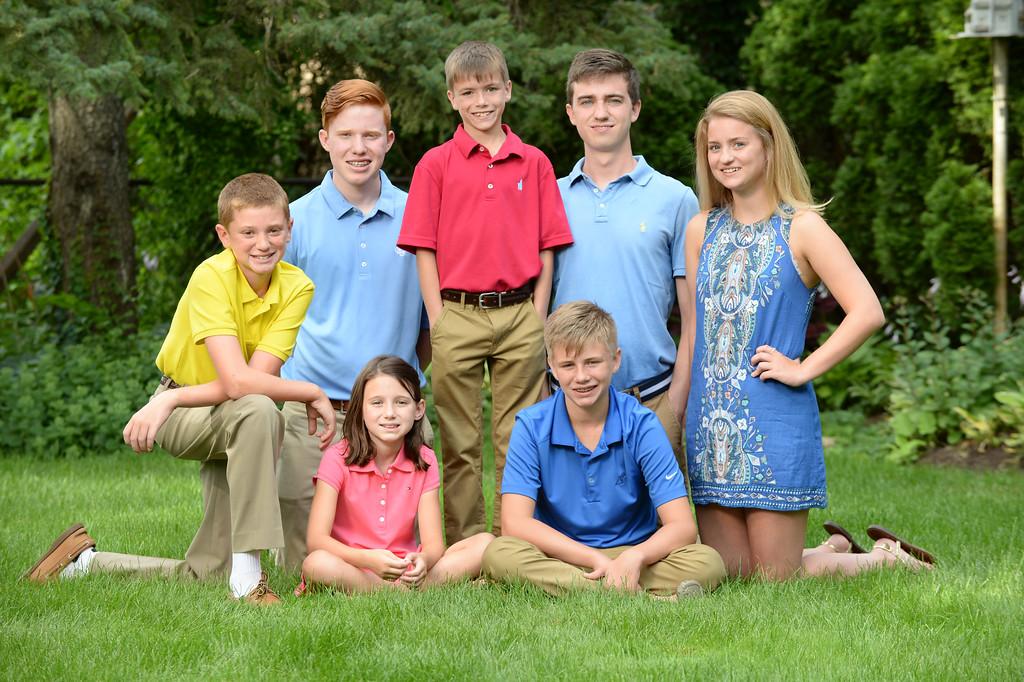 O'Brien family grandchildren, July 25, 2017