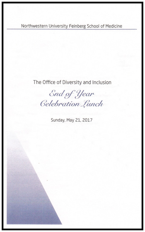 Office of Diversity & Inclusion, End of Year Celebration Luncheon, May 21, 2017