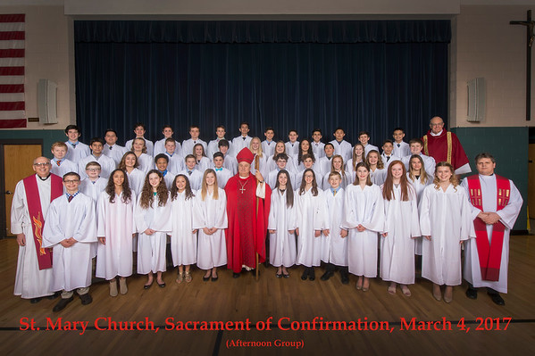 St. Mary 2017 Sacrament of Confirmation Groups, March 4, 2017