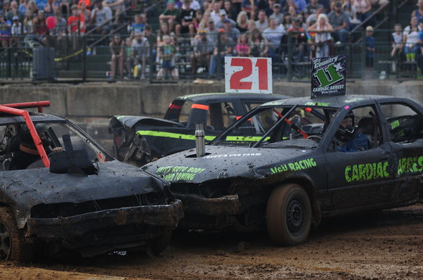 2017 FREDERICK CO FAIR 4 CYL. DEMO DERBY 8-4-17