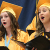 "Roger Schneider | The Goshen News<br /> Graduating Fairfield Jr-Sr. High School students sing ""River in Judea"" as part of the senior choir's performance during graduation ceremonies Sunday afternoon."