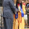 Roger Schneider | The Goshen News<br /> Winifred Sceniak receives her diploma from Superintendent Steve Thalheimer.