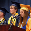 Roger Schneider | The Goshen News<br /> Samantha Shank, secretary of the Fairfield class of 2017, introduces the Top 10 students.