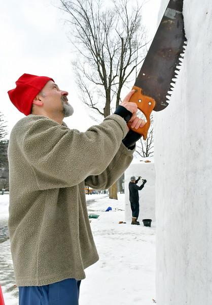 Flurry Snow Sculpture 022218