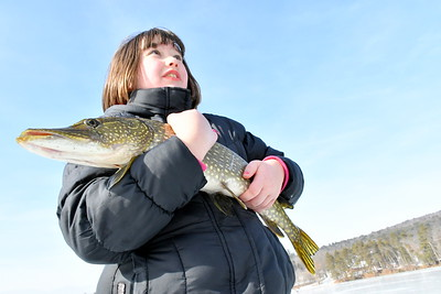 DSC_0398 emma russell,10, with 29 inch pike she got just minutes after event ended