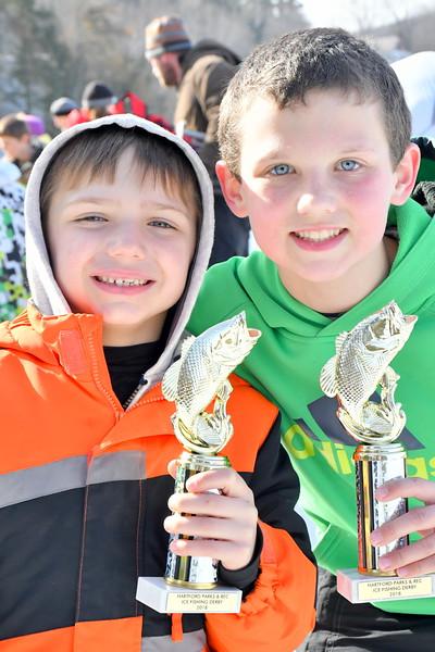Ice fishing Derby At Dewey's Pond 020118