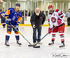 Ceremonial faceoff - Remembrance Day 2017