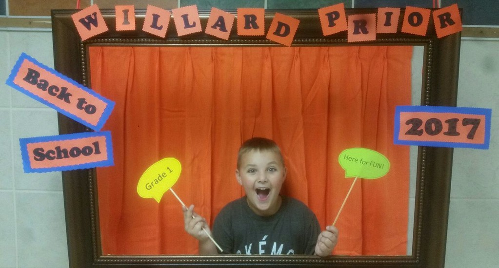 . Photo Courtesy Ian Farwell Alex Farwell is ready for first grade at Willard Prior Elementary in Oneida.