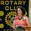South Street Elementary Principal Johnathan Thompson presents Katie Labouno (pictured) with an award during the annual Fitchburg Rotary Awards Dinner at FHS on Tuesday, May 16, 2017. SENTINEL & ENTERPRISE / Ashley Green