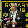 Superintendent Andre Ravenelle speaks during the annual Fitchburg Rotary Awards Dinner at FHS on Tuesday, May 16, 2017. SENTINEL & ENTERPRISE / Ashley Green