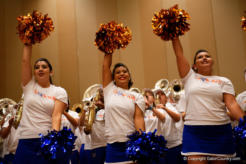 The University of Florida Gators band as the University of Florida Gators host a pep rally at the Omni Hotel the night before the Gators take on the Michigan Wolverines in the 2017 Advocare Classic. September 1st, 2017.  Gator Country photo by David Bowie.