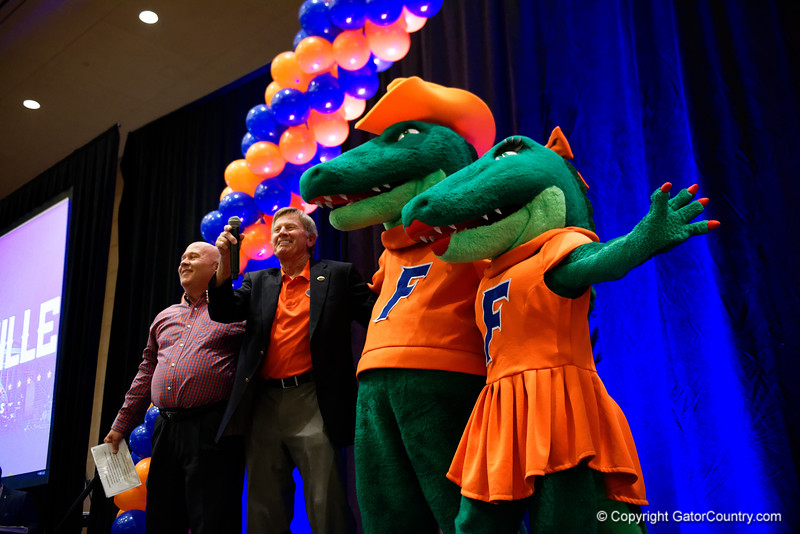 as the University of Florida Gators host a pep rally at the Omni Hotel the night before the Gators take on the Michigan Wolverines in the 2017 Advocare Classic. September 1st, 2017.  Gator Country photo by David Bowie.