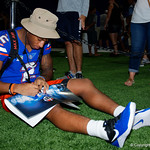 University of Florida Gators defenive back Brad Stewart as the Gators hold their annual fan day, signing autographs and mingling with the fans.  August 19th, 2017.  Gator Country photo by David Bowie.