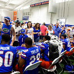 Fans gets autographs signed as the Gators hold their annual fan day, signing autographs and mingling with the fans.  August 19th, 2017.  Gator Country photo by David Bowie.